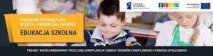 Logo projektu - Mobilność kadry edukacji szkolnej Programu Operacyjnego Wiedza Edukacja Rozwój